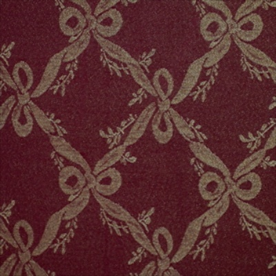 Trellis Burgundy Christmas Tablecloth