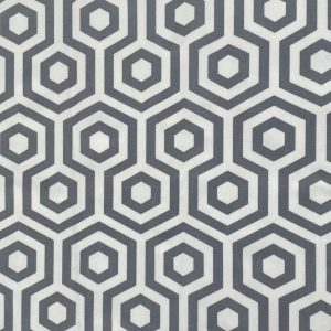 grey geometric vinyl tablecloth main image