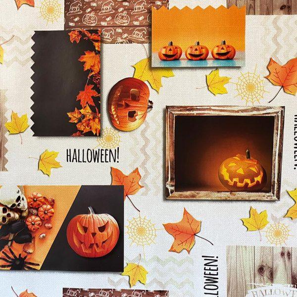 Pumpkin Vinyl Tablecloth