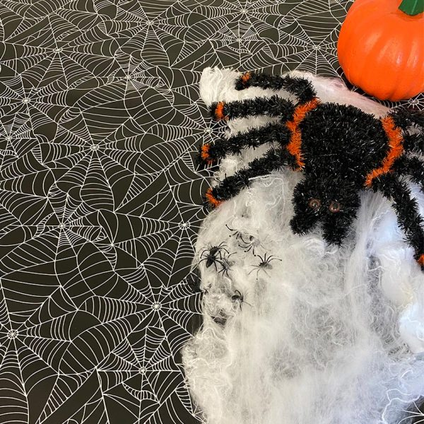 Halloween Tablecloth Spiders Web Pattern Image 1